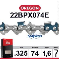 """Chaîne 22BPX074E OREGON. 325"""". 1,6mm. 74 maillons"""
