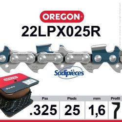 """Chaîne 22LPX025R OREGON Super 20. 325"""". 1,6mm. 25 pieds"""