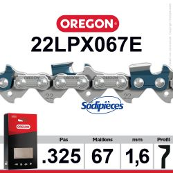 """Chaîne 22LPX067E OREGON Super 20. 325"""". 1,6mm. 67 maillons"""