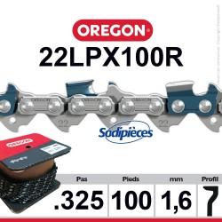 """Chaîne 22LPX100R OREGON Super 20. 325"""". 1,6mm. 100 pieds"""