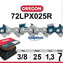 """Chaîne 72LPX025R OREGON Super 70. 3/8"""". 1,3mm. 25 pieds"""